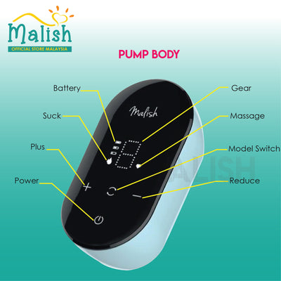 Malish Uno Rechargeable Single Breast pump [2 Years Service Warranty]