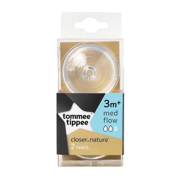 Tommee Tippee  Closer To Nature Bottle Teat  Medium Flow