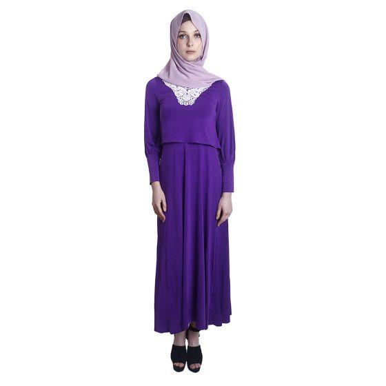 Maxi Nursing Dress (Purple)