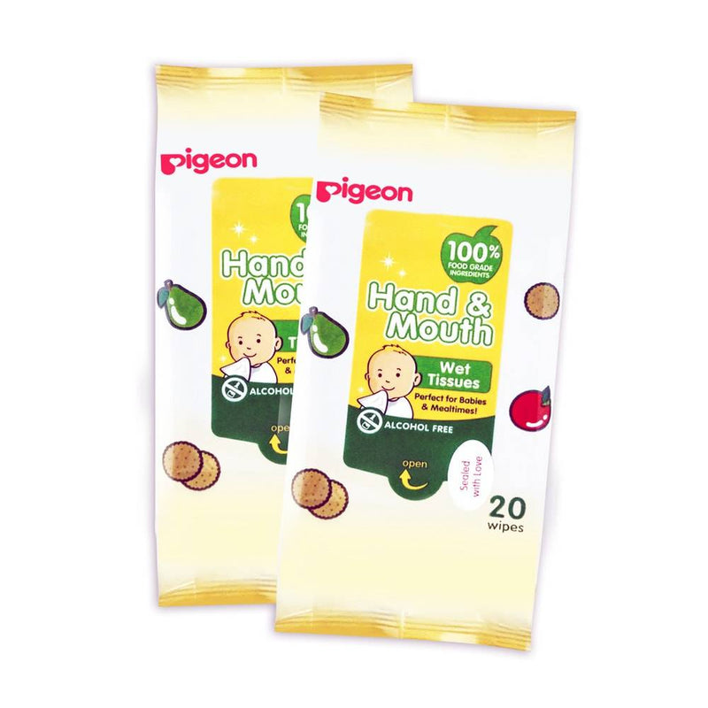 Pigeon Hand & Mouth Wipes 20s [Twin Pack]
