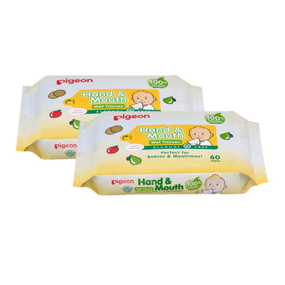Pigeon Hand & Mouth Wipes 120's [ Twin Pack ]