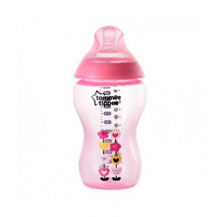 Tommee Tippee Closure To Nature 340ml Tinted Bottle (Pink)