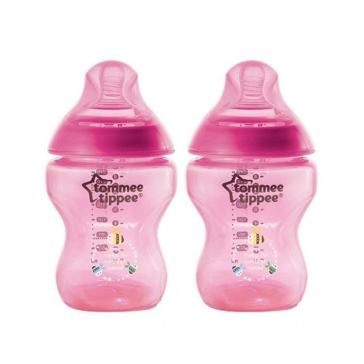 Tommee Tippee Closure To Nature 260ml Tinted PP Bottle (Magenta - 2pcs)
