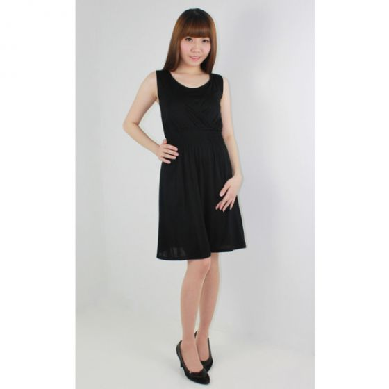 Pretty Nursing Dress (Black)