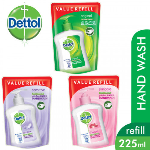 Dettol Anti-Bacterial Hand Wash Refill [225g] (Assorted)