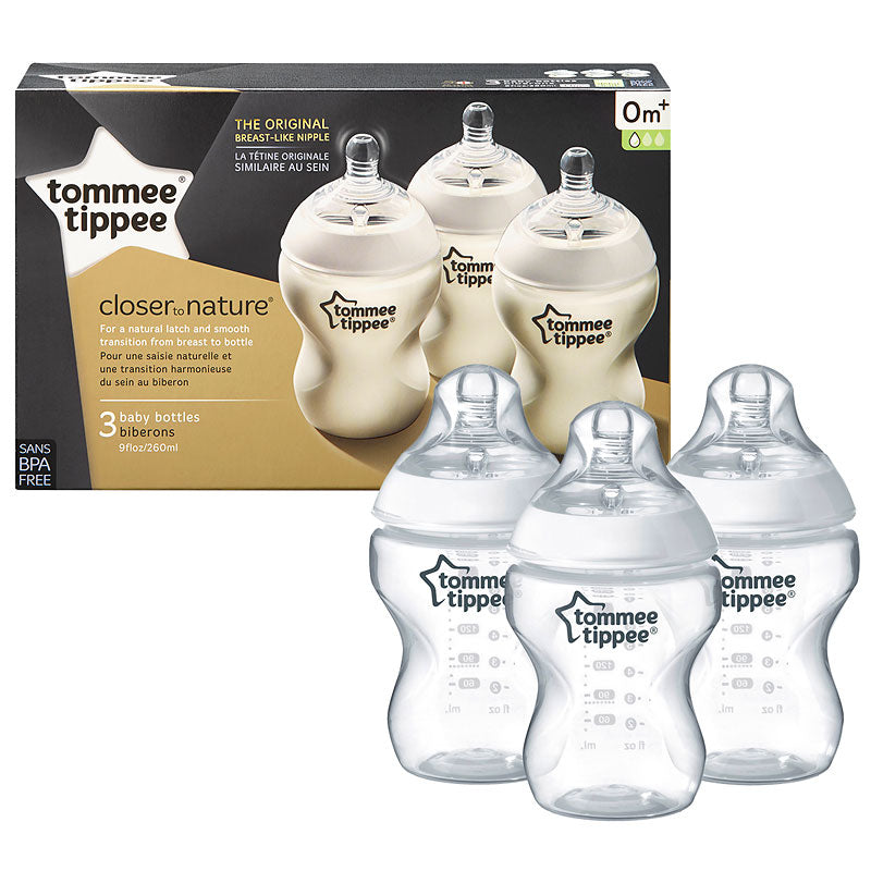 Tommee Tippee Closer To Nature BPA Free 260ml/9oz (Triple)