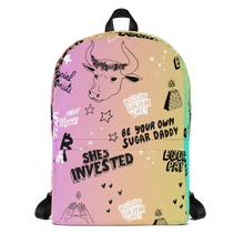 Neon Crypto Gradient Backpack