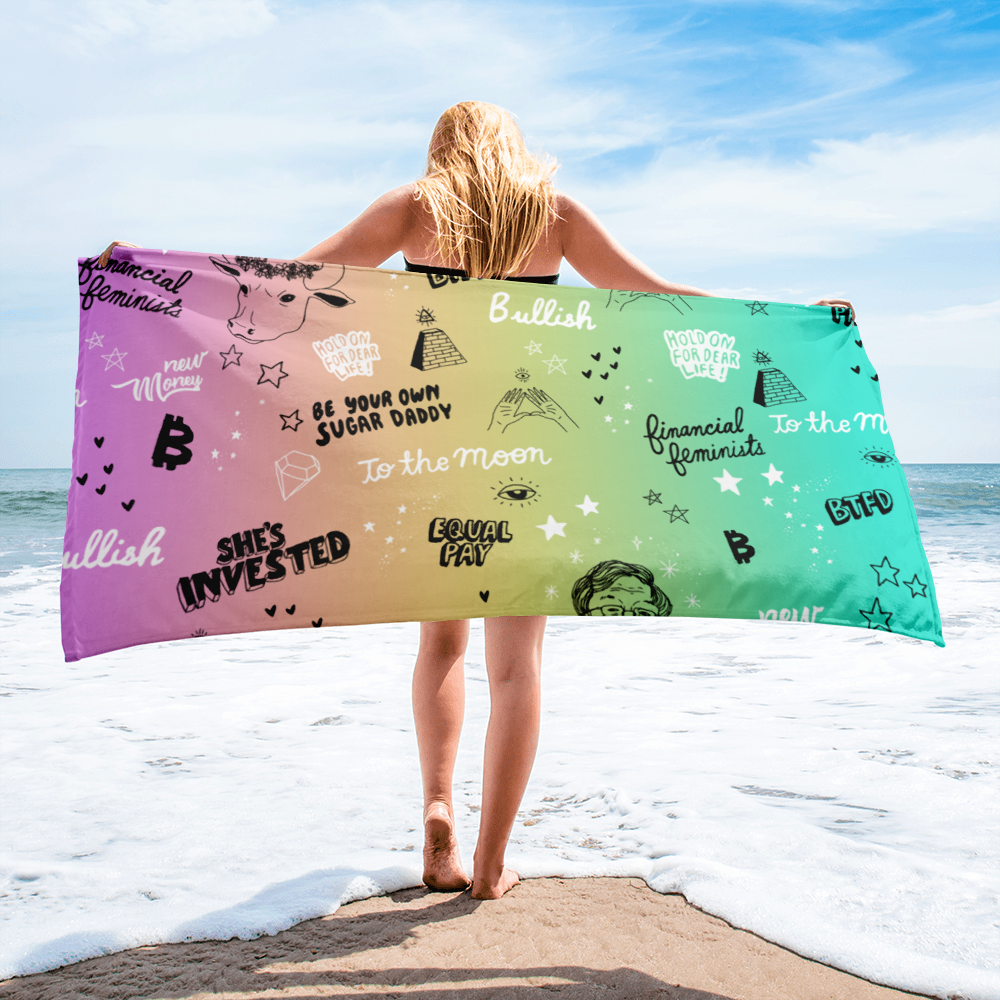 The Crypto Beach Towel