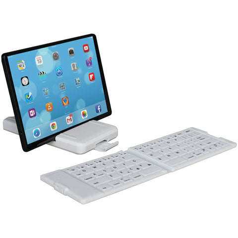 Waterproof Bluetooth Folding Keyboard (White)