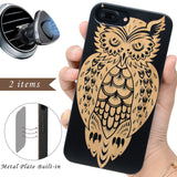 Black Bamboo Wood Owl by iProdcuts US
