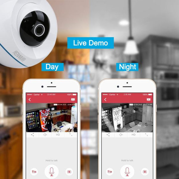 Professional Camera by Auwer 1.3 MP  Camera WiFi IP Security Pan Camera White