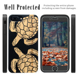 Black Bamboo Wood Two Turtle Cell Case by iProducts US