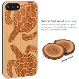 Two Turtle Wood Engraved Case iPhone by iProducts US
