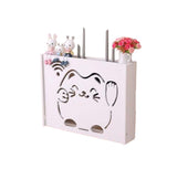 Practical WiFi Router Storage Boxes, Lucky Cat