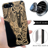 Elephant Wooden Engraved Cases for iPhone by iProducts US