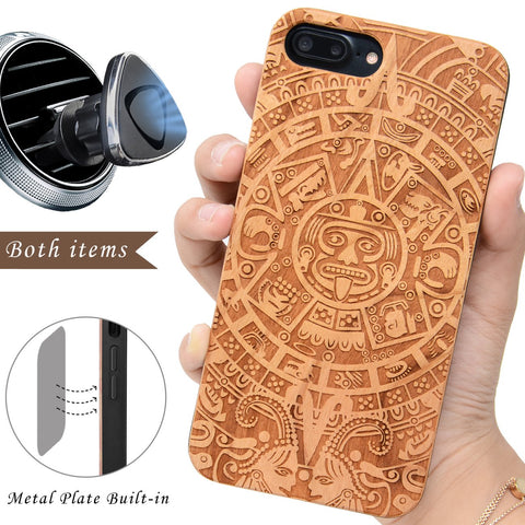 Mayan Calendar Protective Wood iPhone Case by iProducts US