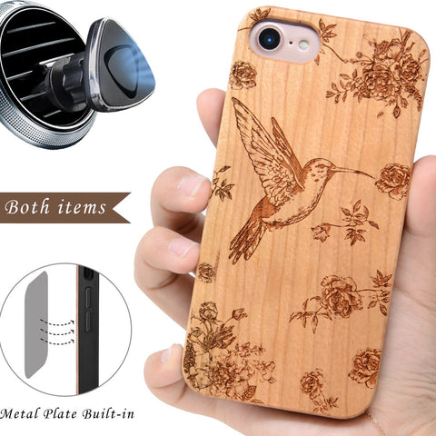 Humming Bird Wooden iPhone Case by iProducts US