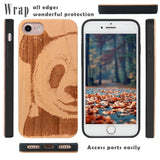 Panda Wooden Engraved Protective Case by iProducts US