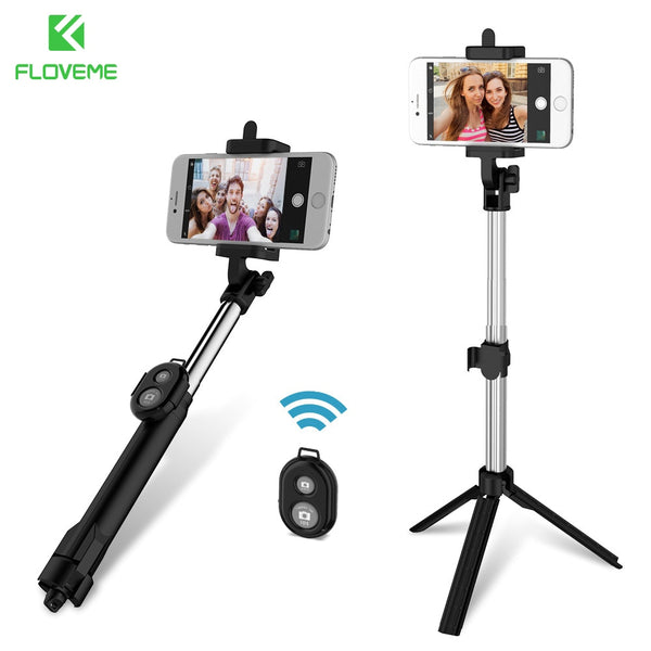 Bluetooth Selfie Stick Tripod For iPhone 7 6 5s 5 and Samsung S8 S7 S6 with Remote