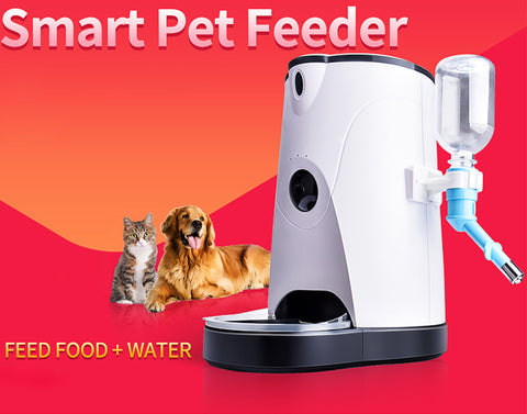 Wireless Smart Pet Feeder Camera With Water