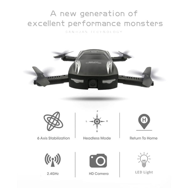 Mini Foldable Voice Control RC Drone with HD Camera