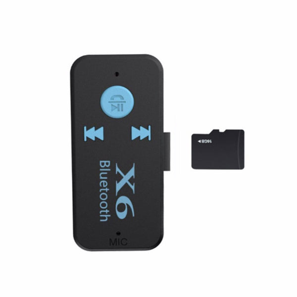 Wireless Bluetooth Card Reader Adapter 3.5mm Audio Jack with Mic Car Calls