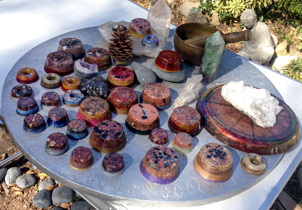 Gifting Orgonite in the Garden
