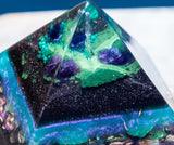Alchemist Orgonite Pyramid ~ Amethyst, Malachite and Shungite Protection Pyramid