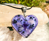 Violet Flame Orgone Pendant ~ Tanzanite, Amethyst and Rose Quartz ~  Orgone Shungite Necklace