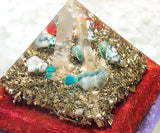 Violet Flame Orgone Pyramid ~ Spring 2018 ~ Emerald, Tree Agate and Chryocolla Crystal Pyramid