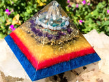 Spring 2018 Violet Flame Orgone Pyramid ~ Rutilated Quartz Manifestation and Creative Focus Crystal Pyramid