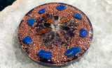 Shungite Orgone Charging Plate ~ Smoky Quartz Crystal Grid  ~ EMF Protection Orgone Crystal Coaster