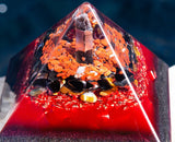 Shungite Orgone Pyramid ~ Ground and Protect Healing Crystal Pyramid