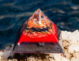 Large Shungite Orgone Pyramid ~ Ground and Protect Healing Crystal Pyramid