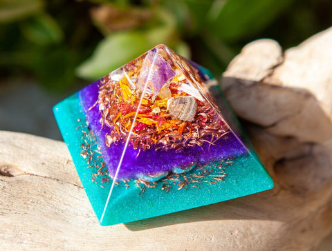 Radiant Light Orgone Pyramid ~ Energizing Crystal Pyramid