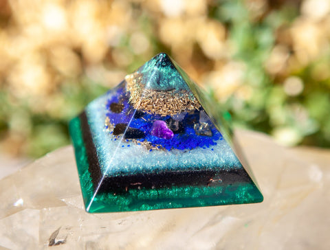 Violet Flame Orgone ~ Shungite Pyramid ~ Pure Protection