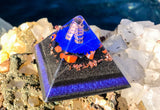 Lapis Lazuli and Shungite Orgone Pyramid ~ EMF PROTECTION Orgone Crystal Pyramid