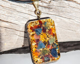 24K Orgone Pendant ~ Good Luck and Abundance Crystal Talisman ~ Crystal Necklace