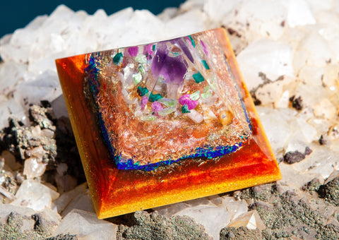 New Moon Scorpio Orgone Pyramid - Fall 2019 Energy Healing Reiki Crystal Pyramid
