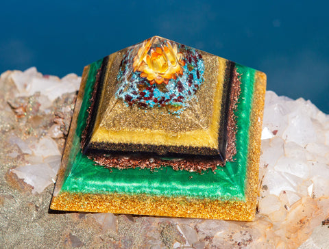 Large Orgone Pyramid to Inspire Radiance