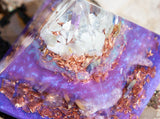Orgone Pyramid | Sweet Dreams Crystal Pyramid | Violet Flame Orgone