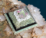 Heart Chakra Orgone Pyramid | Green Kyanite, Rose Quartz, Tourmaline Crystal Pyramid | Violet Flame Orgone Pyramid