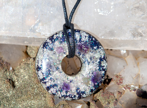 White Light Orgone Meditation Talisman, with Shungite for EMF Protection