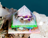 Violet Flame Orgone Pyramid | Small Fairy Crystal Pyramid