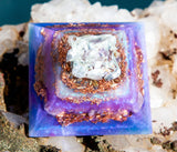 Large Orgone Pyramid | Sweet Dreams Crystal Pyramid | Violet Flame Orgone