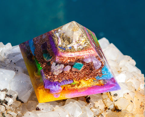 Large Orgone Hummingbird Pyramid