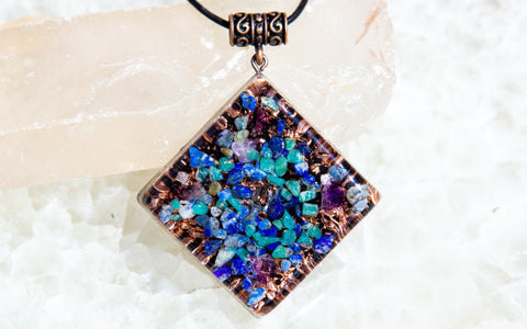 EMF Protection Shungite Orgone Pendant