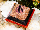 EMF Protection Orgone Pyramid with Shungite and Black Tourmaline
