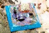 Mermaid Orgone Pyramid / Connect to the Wisdom of the Waters / Meditation Altar Crystal Pyramid