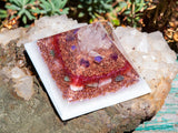 Violet Flame Orgone Pyramid | Divine Love Crystal Pyramid | Heart Chakra Crystals